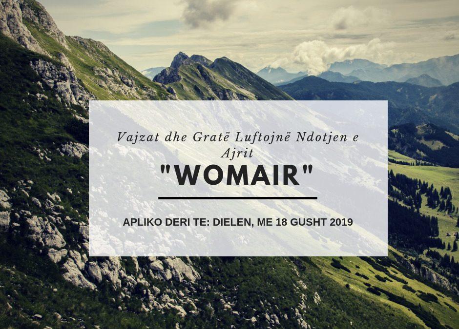 """""""WOMAIR"""" – Thirrje për aplikim"""